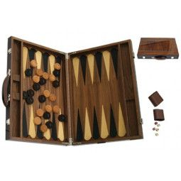 Backgammon bois marqueté luxe 46 cm