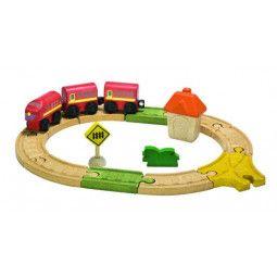 Circuit train/voiture ovale - Plan Toys - IkaIpaka Royan