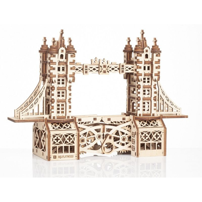Puzzle maquette Tower Bridge 3D mobile en bois Mr playwood 312 pieces - IkaIpaka Royan