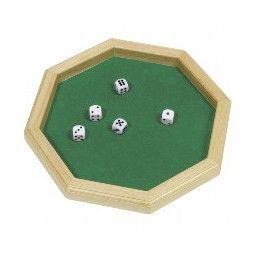 Piste de dés 25 cm hexagonale