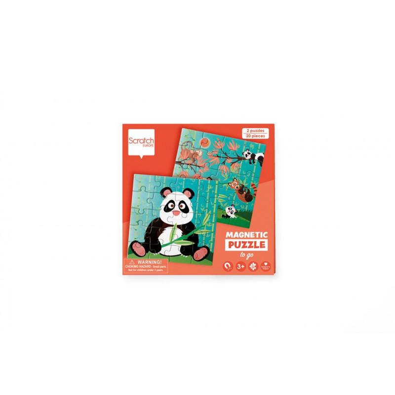 Puzzle 20p magnétique Panda Scratch - 1