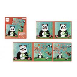 Puzzle 20p magnétique Panda Scratch - 3
