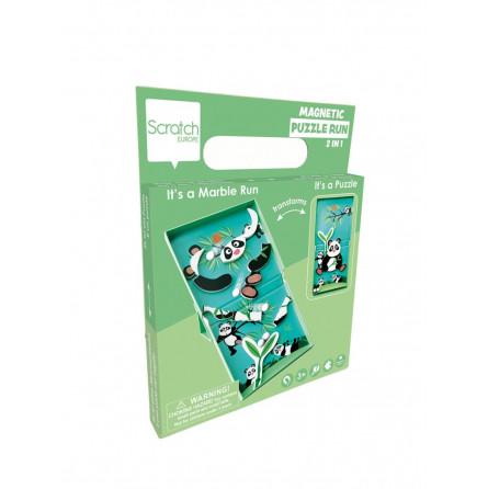 Circuit de billes + Puzzle magnétique Panda Scratch - 1